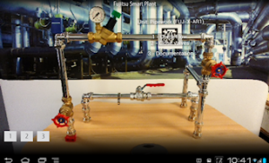 Screen capture of an augmented reality image